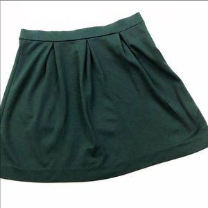 MADEWELL  Mini Skater Skirt Hunter Green Size 8